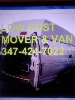 mover  van last min help moving same items curb to curb or door to door man w van 347424-7022