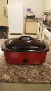 Rival electric roaster with outdoor Smoker
