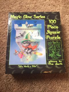 New glow in the dark 100 piece jigsaw puzzle - who wants a ride