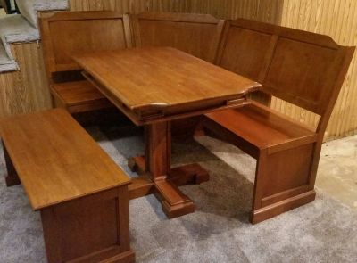 Kitchen nook table and bench set