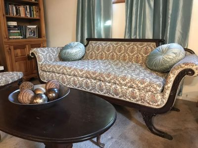 Claw foot antique couch