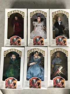 Vintage Gone with the Wind Collector dolls1994 All 6 one price