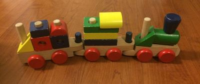Melissa & Doug: Magnetic Hide & Seek Board + Stacking Train