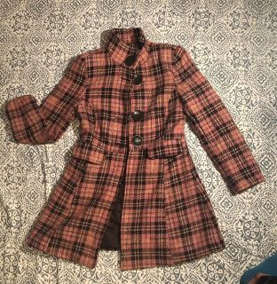 Rue 21 lined pea coat, size med.