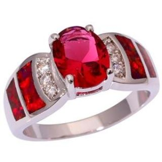New - Kunzite and Red Fire Opal Ring - Size 9