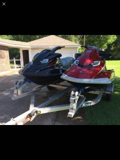 2012 Yamaha FX Sho Super Charged Waverunners with Triton aluminum trailer and extra tire. 80hours. Great running condition.