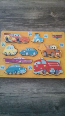 Disney's Cars Wooden Puzzle. .FREE