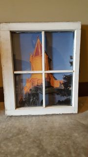 Wooden window as picture frame