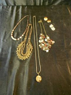 Locket Necklace, Gold Necklaces, Earrings, Shells