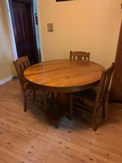 Antique Kitchen Table with 4 chairs