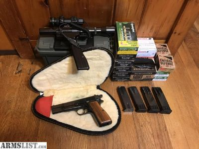 For Sale: 9mm Browning Hi Power 1965 model excellent condition with extras