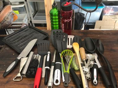 Large lot of kitchen utensils