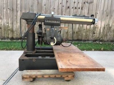 Craftsman radial arm saw with table stand