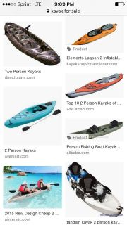 Kayak, one or two person