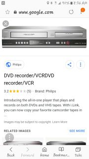 DVD/VHS recorder with remote