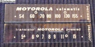 Radio Dial Glass Motorola Big M Sears Studebaker
