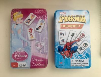 Dominos - princess and super hero, mixed with Dora. $1 each.