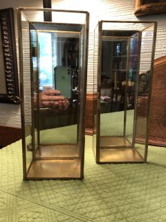Pottery Barn mirrored wall sconces (2)