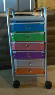Organizer with drawers and wheels