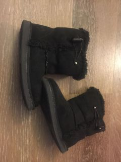 Air walk toddlers size 10 black boots like new