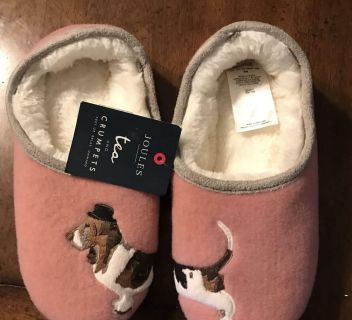 NWT Joules Slippers kids size 3-4