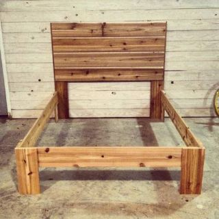 Rustic Modern Cedar Wood Bed