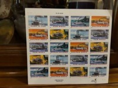Steamboat postage stamps 20/33 cents
