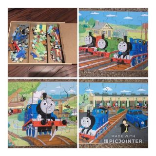 Complete Thomas the Train wood puzzle set of 3