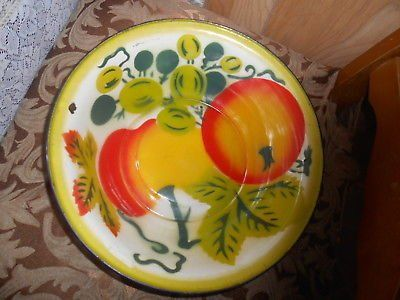Vintage Large Tin Aluminum Fruit Bowl