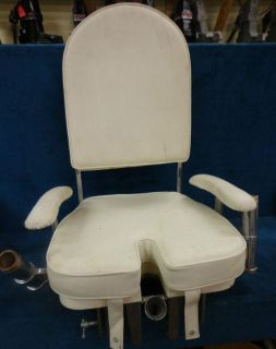 Sell fighting seat cover/cushions,white,salt water, charter fishing, chair,foot brace motorcycle in Gulfport, Mississippi, US, for US $839.99