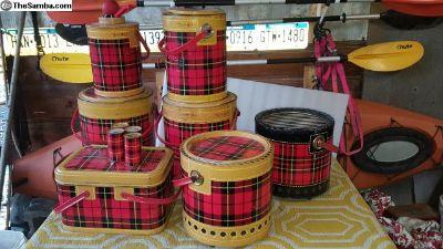 Vintage 50s Skotch red plaid set