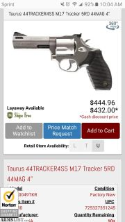 Want To Buy: .44 magnum
