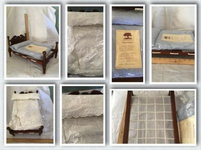 """Three Chopt Woods World Gallery Doll Bed #700/5000 NEW 9"""" Tall x 16"""" Long"""