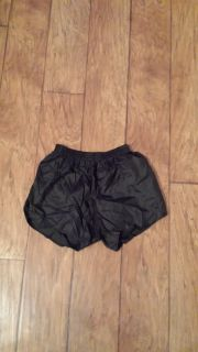 Black Gym Shorts with Elastic Waist, Size Adult Medium