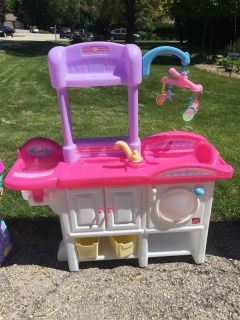 Baby doll care station, only one year old!
