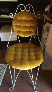 Iron padded chair