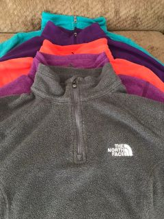 North Face 3/4 zip up light weight jackets