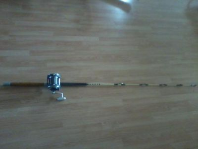 $250, Blue water rod and reel