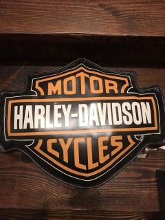 Harley-Davidson patent leather pillow. Still has tags.
