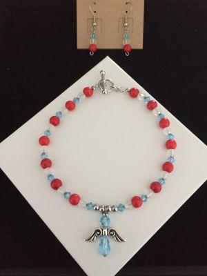 Handmade Earrings and Bracelet Set