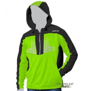 Sell Arctic Cat Men s 1/2 Zip Performance Hooded Sweatshirt Black & Green - 5269-14_ motorcycle in Sauk Centre, Minnesota, United States, for US $41.99