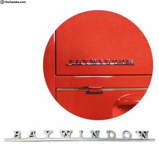 VW AirCooled Baywindow Script Emblem Badge