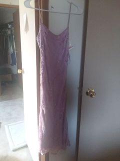 Adrianna Papella Strapless Dress  Lavender Color