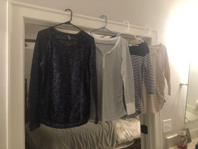 Casual maternity tops from Target and Old Navy. $4 each