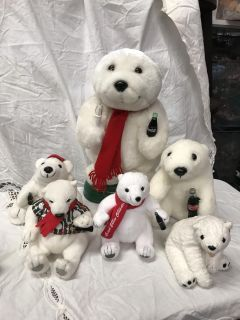 Coca-Cola bears (one is not Coca-Cola) $3/all
