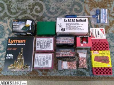 For Sale: Tumbler, Manual, Powder Measure, Scale, Bullets, Dies, etc.