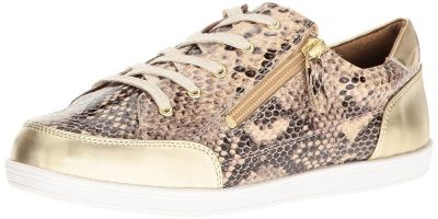 NEW Soft Style by Hush Puppies Women's Fairfax Oxford Bone Python Size 7.0 Wide