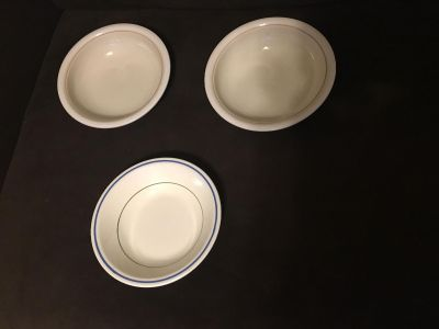 3 Different Cereal Soup Bowls