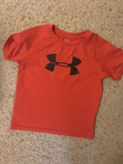 Red Under Armour shirt, size 6