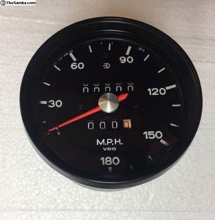 1973 Porsche RSR 180 MPH Speedometer 91164150629